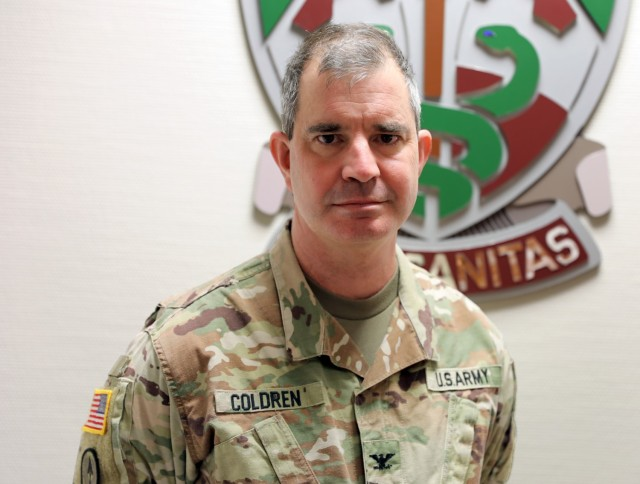 Col. Rodney Coldren is the Regional Health Command Europe and U.S. Army Europe and Africa Public Health Emergency Officer.  Coldren has been the defacto face of Regional Health Command Europe on all things COVID-19.  Coldren is is also the director of Human Health Services for Public Health Command Europe.