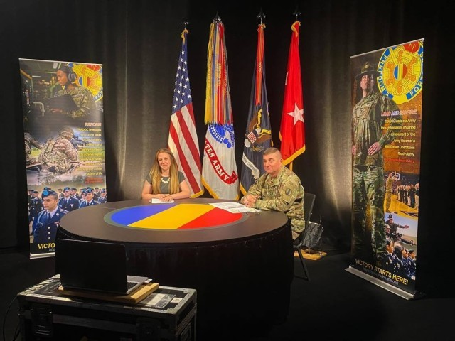 Maj. Gen. Lonnie G. Hibbard, commanding general, Center of Initial Military Training, hosted the Leader Professional Development webinar alongside moderator Sarah Houck, Public Affairs Specialist on May 19, 2021.