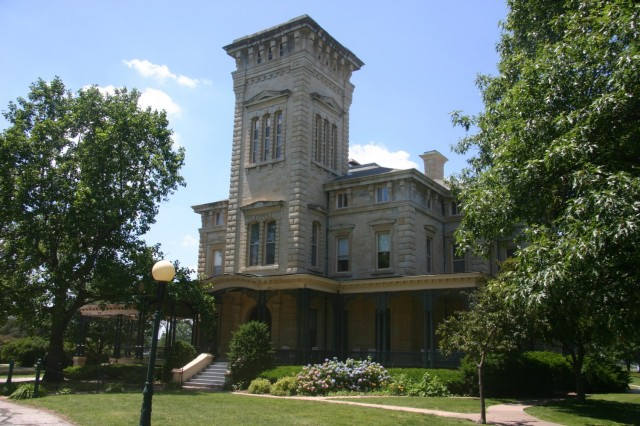 Built in 1871, Quarters 1 at Rock Island Arsenal, Illinois, is a stately home and was the second largest federal residence, the White House being the largest. (Courtesy photo)
