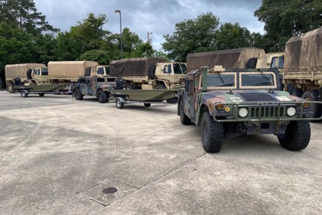 Louisiana National Guard responds to flooding