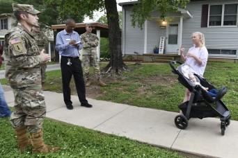 USAG Fort Leonard Wood leaders host walking town hall
