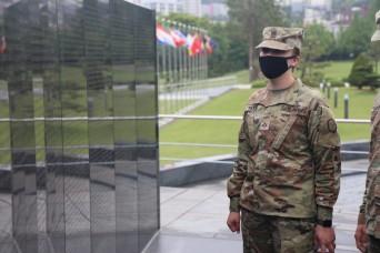 19th ESC Soldiers Build Spiritual Resilience at UN Memorial in Busan