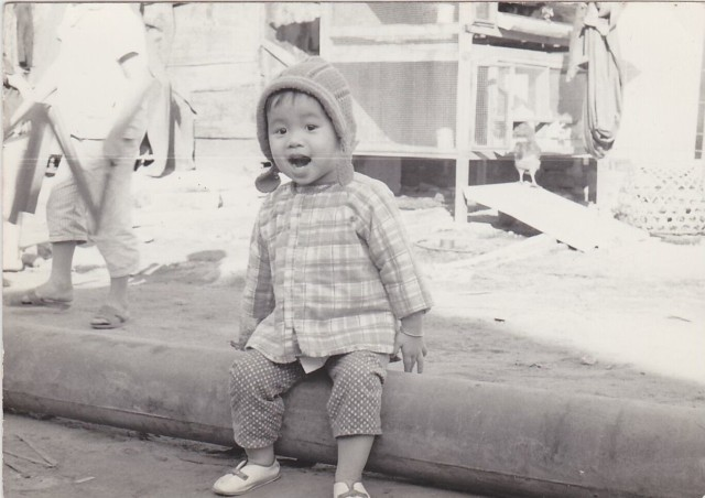 Quynh, Spc. Ryan Do's mother, in Da Nang, Vietnam on June 8, 1970. Quynh was one of seven children, all of whom escaped to Hong Kong during the Vietnam War and later arrived in the United States. Quynh and her sisters, Paulia and Lynn, survived 18 days on a fishing boat to reach Hong Kong, where they spent a year and a half in a refugee camp, camp Jubilee, before being sponsored to come to the United States.