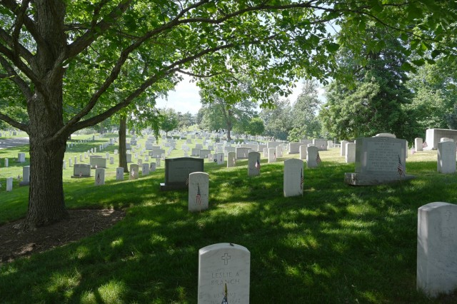 Chaplains Hill in Section 2 at Arlington National Cemetery.