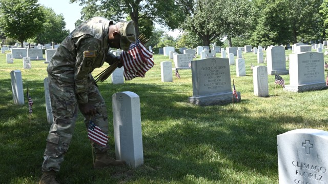 """Chaplains honor the fallen during """"Flags In"""" at Chaplains Hill"""