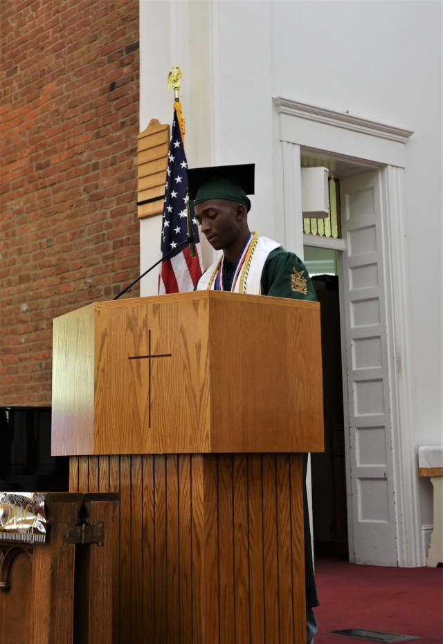 The 2021 graduating senior class of Fort Knox Middle High School was honored May 27 at a baccalaureate ceremony held at the post Main Chapel.