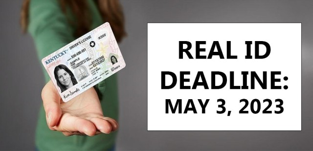 Enforcement of the REAL ID program is set to begin May 3, 2023, which establishes minimum security standards for state-issued driver's licenses and identification cards.