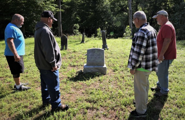Wise brothers Lon, John and Michael visit Pitts Point Cemetery at Fort Knox on Memorial Day for the first time since their father brought them 51 years ago. Joined by brother Pat, the men have 17 family members buried at the site.