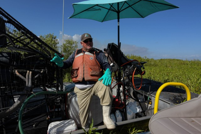 Applied Aquatics, licensed applicator, Jeff Smith talks about the Spray Tracking Device that was outfitted to some of the airboats piloting program for Florida Fish and Wildlife, the U.S. Army Corps of Engineers and the Florida Water Management District. The system was devised to provide oversight and collect data but Florida Fish and Wildlife, say that the potential of the device made lead to more robust research.
