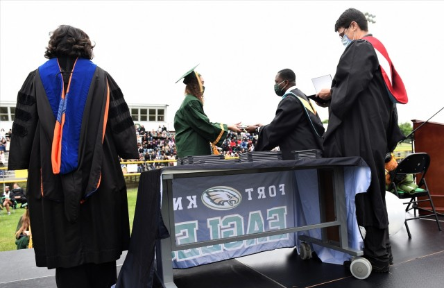 Fort Knox Middle High School celebrates Class of 2021 successes at in-person graduation