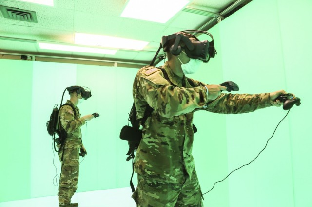 Soldiers from the Army's 3rd Infantry Division at Fort Stewart, Georgia test Night Vision Goggle Next (NVG Next) at the C5ISR Center's Fort Belvoir, Virginia laboratory.