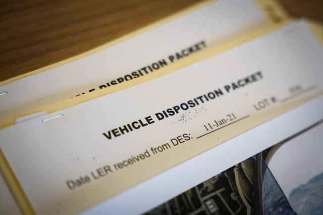 Each abandoned vehicle that is to be removed has a packet that must go through the Abandoned Vehicle Committee.