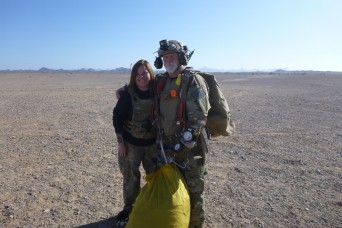 Like father, like daughter: rigging parachutes runs in the family