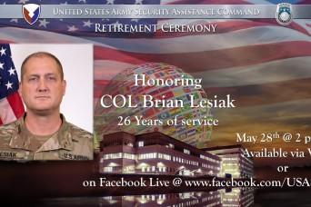 Farewell Col. Lesiak