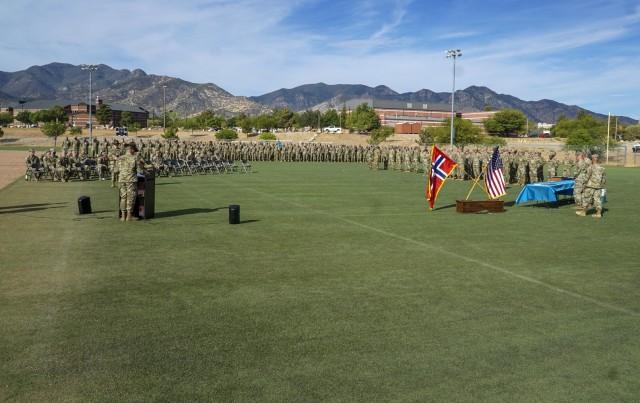 Comanche Company presents Norwegian Foot March badge