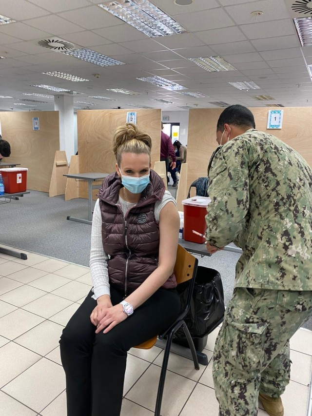 WIESBADEN, Germany - On May 17, approximately 320 U.S. Army Garrison Wiesbaden local national employees received their first dose of the COVID-19 vaccination (photo by Jasmin Taylor)
