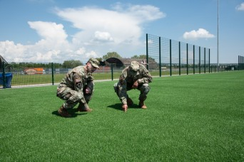 USAG Wiesbaden celebrates the opening of a new artificial turf field on Clay North
