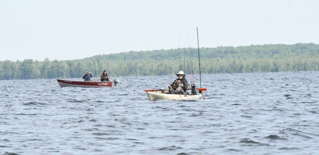 Fishing is a popular pastime in the northern New York, and both professional and amateur anglers have plenty of options when considering where to cast. (Photo by Mike Strasser, Fort Drum Garrison Public Affairs)