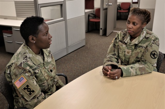 Lt. Col. Alicia Rackston and Maj. Rebecca Finley reminisce about the events that transpired on Memorial Day May 31, 2021, when they were called to bring the difficult news to a military Spouse who had lost her Soldier.