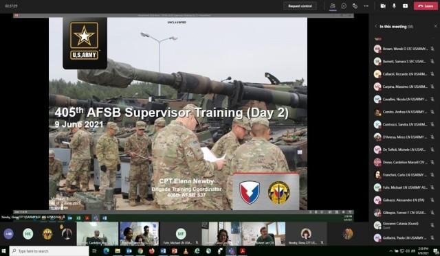 405th AFSB develops virtual supervisor training program for local nationals