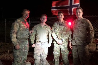 Guardsmen earn Norwegian Foot March Badge during joint event