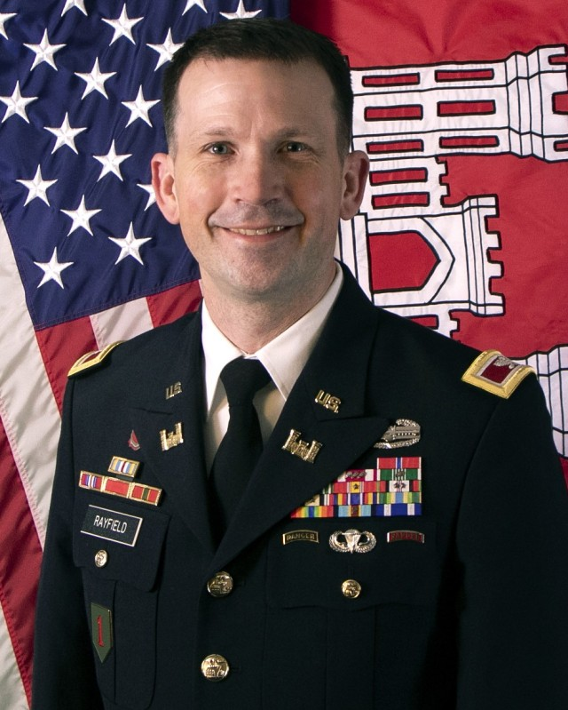 Col. Travis J. Rayfield, U.S. Army, took command June 11, 2021, of the Kansas City District, Northwestern Division, U.S. Army Corps of Engineers in a ceremony hosted by Brig. Peter Helmlinger, commander, Northwestern Division, at the Memorial Hall in Kansas City, Kan.