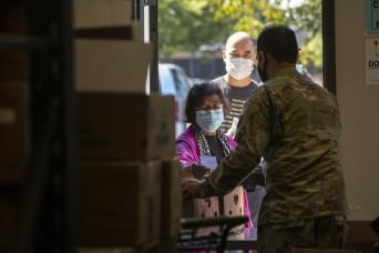 National Guard food bank support receives praise from local leaders