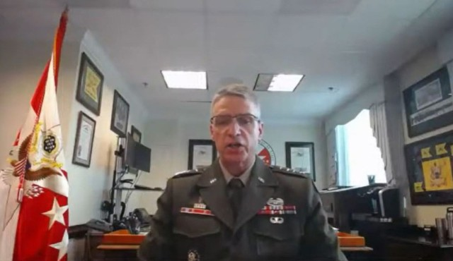 Vice Chief of Staff of the Army Gen. Joseph M. Martin testifies before the House Armed Services Committee's subcommittee on readiness, June 9, 2021.