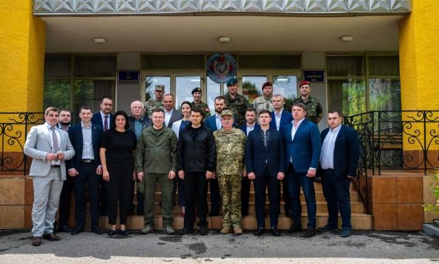 Dmytro Razumkov, Chairman of the Verkhovna Rada, visits IPSC