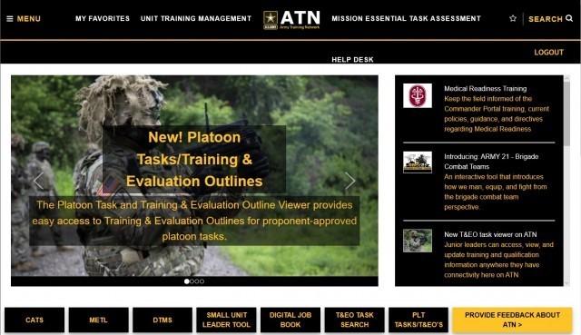 Screenshot of ATN Website