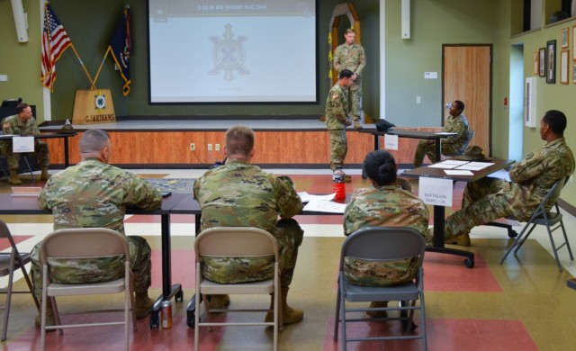 During a rehearsal-of-concept drill June 10 at the 3rd Battalion, 10th Infantry Regiment headquarters, company commanders, first sergeants and executive officers were informed of the duties and responsibilities of key personnel, including drill sergeants, company victim advocates and battalion and brigade sexual assault coordinators in the event a sexual harassment and assault response and prevention-related incident occurs.