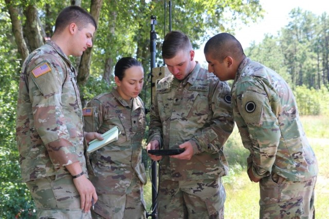 Soldiers train on emerging electronic warfare capabilities during Cyber Blitz 19. Soldiers in the Intelligence Capabilities Modernization Professional Development Program have the opportunity to obtain an in-depth look at the acquisition processes as well as provide C5ISR Center engineers with a military perspective. (U.S. Army Photo by Edric Thompson, U.S. Army Combat Capabilities Development Command)