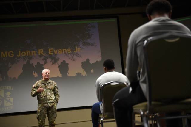 University of Louisville football team tackles Fort Knox training, meets with fans
