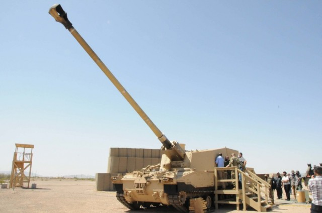 The Army demonstrated the Extended Range Cannon Artillery autoloader's speed during a test on March 30, 2021, at Yuma Proving Ground, Ariz. ERCA can now fire at a range of over 40 miles. The Army hopes to achieve deterrence against looming threats through capabilities positioned in the Indo-Pacific theater such as long-range precision fires, said Gen. John M. Murray during a hearing before the Senate Armed Services Committee.