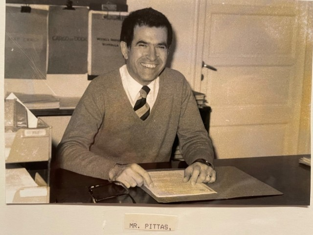 Mr. Panayiotis 'Panos' G. Pittas,  a host-nation transportation and cargo specialist, serving at the U.S. Army's Terminal Transportation Unit, Athens, Greece, during the 1970s.