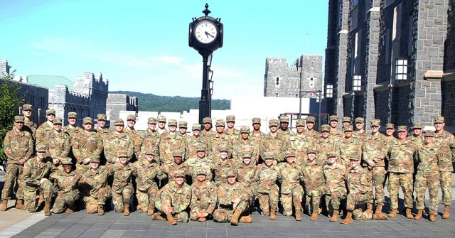 All the cadet cadre, staff and Military Academy Liaison Officers (MALOs) take a group photo June 10 on the second to last day of the Summer Leader Experience that took place in three iterations from May 29-June 11. The Summer Leader Experience is designed to offer a glimpse into the academic, athletic and social life of U.S. Military Academy cadets to rising high school seniors looking to make the critical decision for theircollege journeywithin the next year.