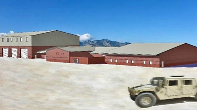 Fort Huachuca and community leaders take part in a ceremonial groundbreaking for a $30 million U.S. Army Electronic Proving Ground, Ground Transport Equipment Building as you see in this artists rendering.