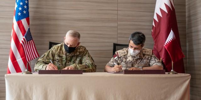 West Virginia, Qatar formalize military partnership