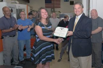 Civilian receives achievement medal for developmental assignment