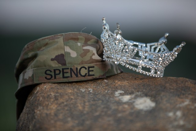 """Spc. Maura Spence, a Katy, Texas native and an intelligence analyst with 23rd Infantry Regiment, 1st Stryker Brigade Combat Team, won first place in the Miss Colorado 2021 pageant, June 8, 2021. Spence and the Ivy Team are hoping for a victory, but Spence maintains a humble perspective: """"If I don't win Miss America, I'll still be Miss Colorado. Either way, I feel like I win if I get to represent my state and my country."""" (U.S. Army photo by Spc. Matthew Marsilia)"""