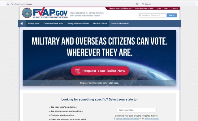 The Federal Voting Assistance Program website is a resource for information on absentee voting.