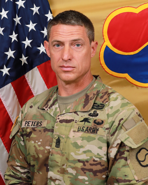 Command Sgt. Maj. Chad M. Peters
