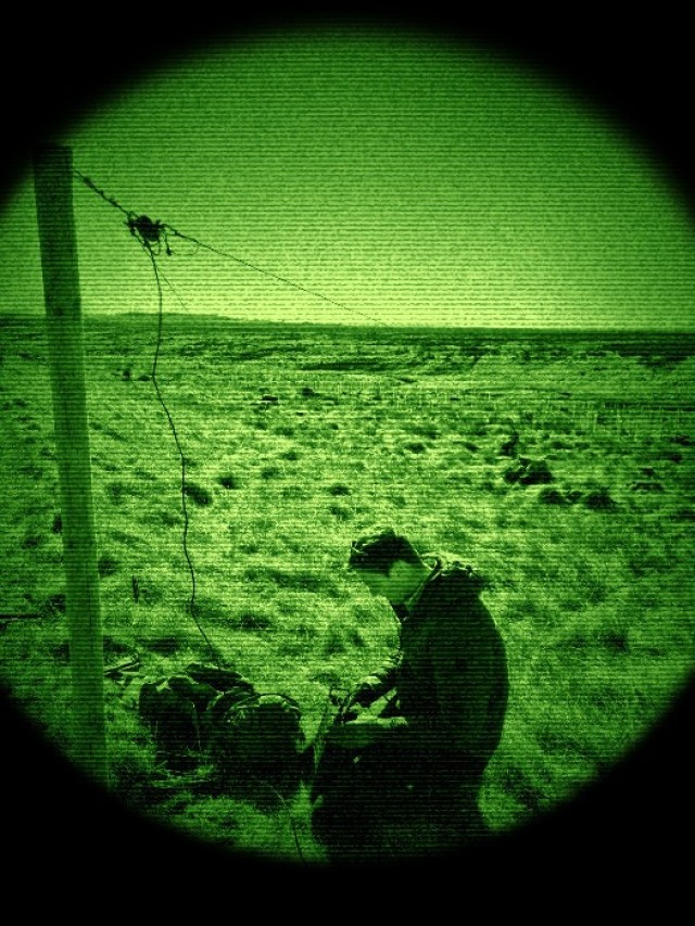 U.K. Signal Regiment and SOCEUR Signal Detachment (SSD) conduct electronic warfare training at RAF Spadeadam (U.K.) on April 20, 2021 during a bilateral exercise. The exercise, designed to increase interoperability between the two NATO allies, facilitated mutual understanding of the combined tactical communication used by the U.K. and U.S.