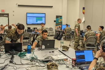 New England Guard members train at Cyber Yankee