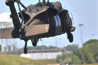 AIT Soldiers learn sling load operations at Fort Lee