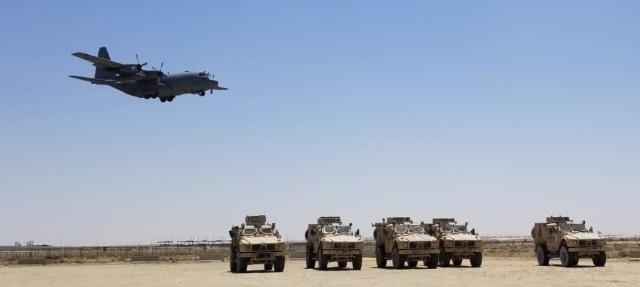 C-130 Flies Over MAT-Vs