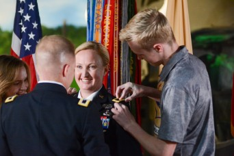 Dempsey promotes Donahue to brigadier general
