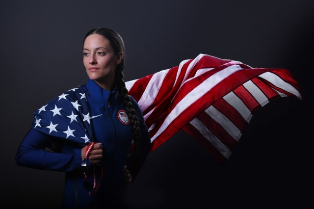 Sgt. 1st Class Elizabeth Marks, a Solider-athlete in the U.S. Army World Class Athlete Program, broke two American records at the Paralympic Swimming Trials June 17-21 while qualifying for the Summer Games. Photo by Maj. Nathaniel Garcia