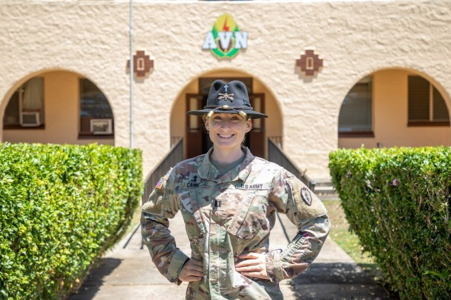 Captain Sarah Caine is the squadron chaplain for 2-6 Cavalry Squadron, 25th Combat Aviation Brigade, 25th Infantry Division at Wheeler Army Airfield, Hawaii. Caine is relaunching a chapel service that is fully LGBTQ+ affirming and celebrating! It's focused on spiritual themes but doesn't require a specific faith background or any faith background.  (U.S. Army photo by Sgt. Sarah D. Sangster)