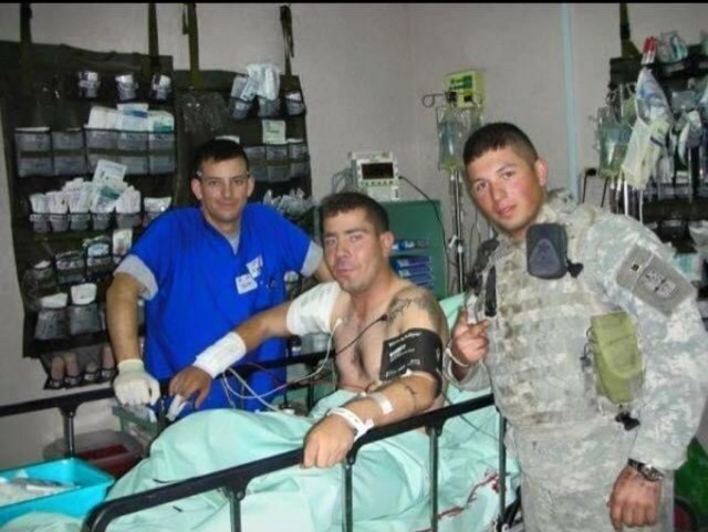 Retired U.S. Army Sgt. Chris Schof pictured in 2007 shortly after he was injured in Iraq. (Photo courtesy retired Sgt. Chris Shof)